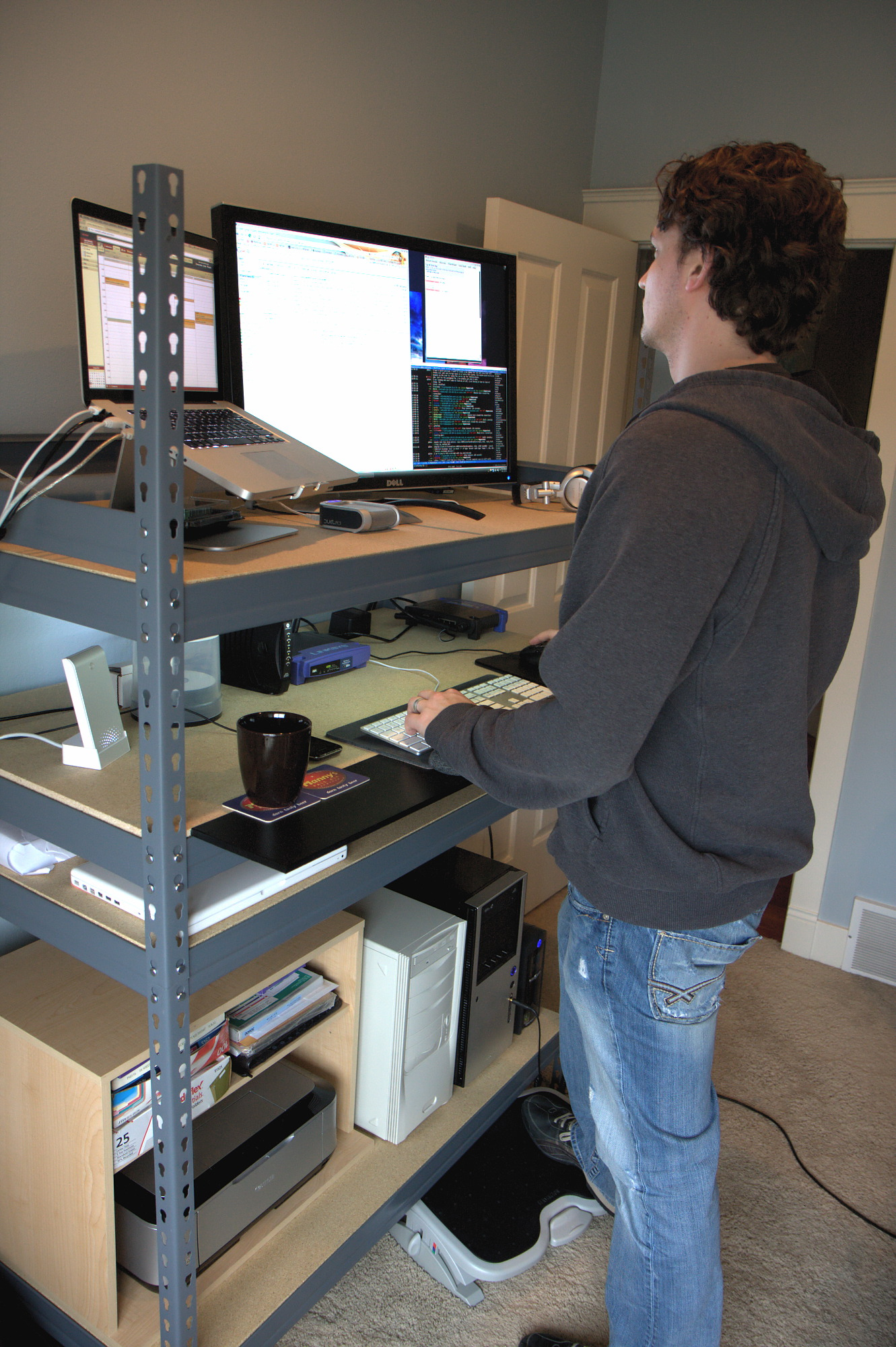 Complete Standing Desk Using Footrest