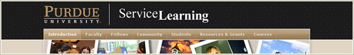 Purdue University Service Learning Website